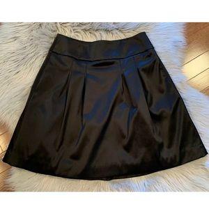 White House Black Market Satin A-Line Skirt